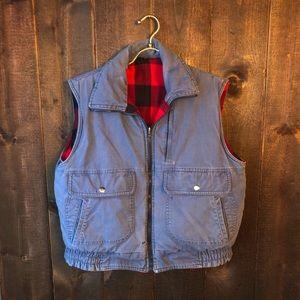 Vintage Buffalo Check Reversible Puffer Vest